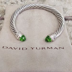 7 mm David Yurman peridot bracelet